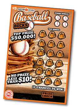Baseball lottery scratch off